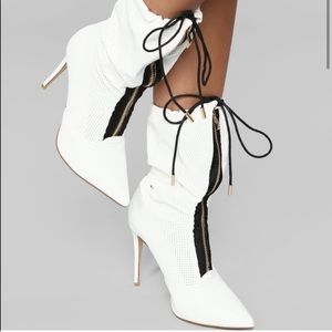 Fashion Nova Zip Along Heeled Boot
